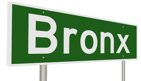 Highway sign for Bronx Stock Photo