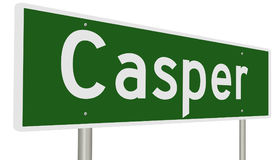 Highway sign for Casper Wyoming Stock Photo