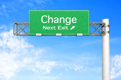 Highway Sign - Change. 3D rendered Illustration. Highway Sign next exit 2011 Stock Photography