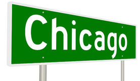 Highway sign for Chicago Illinois Royalty Free Stock Photo