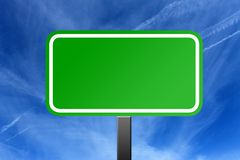 Highway sign and cloudscape Royalty Free Stock Image