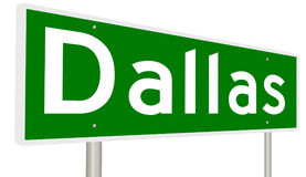 Highway sign for Dallas Texas Stock Photography