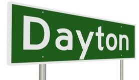 Highway sign for Dayton Ohio vector illustration
