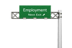 Highway Sign - Employment Stock Image