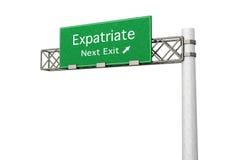 Highway Sign - Expatriate. 3D rendered Illustration. Highway Sign next exit to expatriation. Isolated on white vector illustration