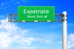 Highway Sign - Expatriate Stock Images