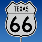 Highway sign for historic Route 66 in Texas Stock Photo