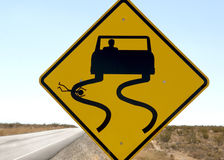 Highway Sign Humor. A funny but sick sign along a desert highway Stock Image