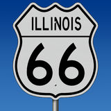 Highway sign for Illinois Route 66 Royalty Free Stock Photography