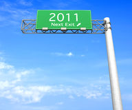 Highway Sign - Next Exit 2011 Stock Photo