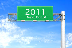 Highway Sign - Next Exit 2011 Stock Images