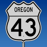 Highway sign for Oregon Route 43 Stock Images