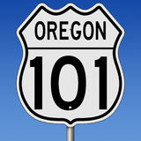 Highway sign for Oregon route 101. Rendering of a highway sign for Oregon route 101 Stock Photography