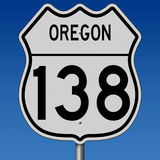Highway sign for Oregon Route 138 Royalty Free Stock Image