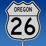 Highway sign for Oregon Route 26 Stock Photo