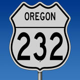 Highway sign for Oregon Route 232 Royalty Free Stock Photography