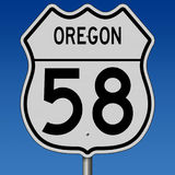 Highway sign for Oregon Route 58 Royalty Free Stock Image