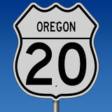 Highway sign for Oregon Route 20 Stock Photos