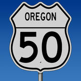 Highway sign for Oregon Route 50 Stock Images