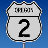 Highway sign for Oregon Route 2 Royalty Free Stock Photo