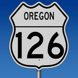 Highway sign for Oregon Route 126 Royalty Free Stock Image