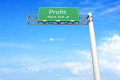 Highway Sign - Profit Royalty Free Stock Images