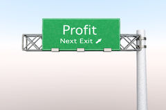 Highway Sign - Profit Royalty Free Stock Photos