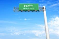 Highway Sign - Profit Stock Image