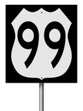 Highway sign for Route 99. A 3d rendering of a highway sign for Route 99 Royalty Free Stock Photography