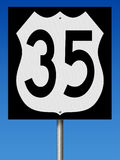 Highway sign for Route 35 Stock Photos