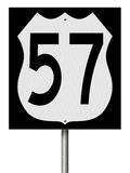 Highway sign for Route 57 Stock Photo