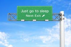 Highway Sign - Sleep Stock Photo