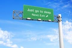 Highway Sign - Sleep Royalty Free Stock Image