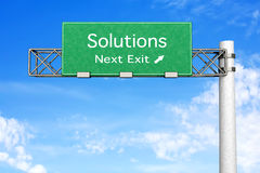 Highway Sign - Solutions Royalty Free Stock Photography