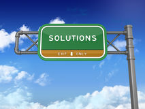Highway Sign - Solutions Stock Images