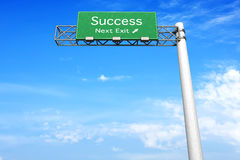 Highway Sign - Success Royalty Free Stock Image