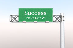 Highway Sign - Success Stock Image