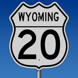 Highway sign for Wyoming Route 20 Royalty Free Stock Photography