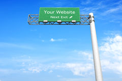Highway Sign - Your Website Stock Photos