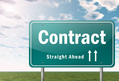 Highway Signpost Contract Stock Photo