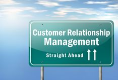 Highway Signpost Customer Relationship Management. Highway Signpost with Customer Relationship Management wording Stock Images