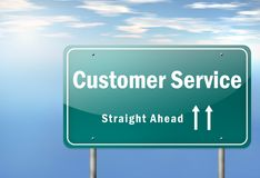 Highway Signpost Customer Satisfaction royalty free illustration