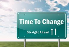 Highway Signpost Time To Change stock illustration