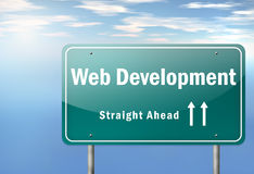Highway Signpost Web Development Stock Photos