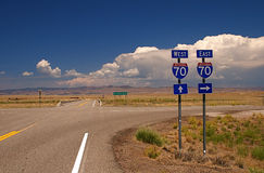 Highway Signs Royalty Free Stock Image
