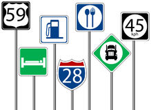 Highway Signs Royalty Free Stock Images