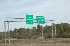 Highway signs to disney Stock Photos