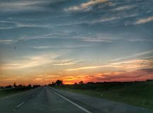 The highway sky scape landscape beautiful background wallpaper Royalty Free Stock Photo