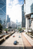 Highway and skyscrapers in hong kong Royalty Free Stock Images