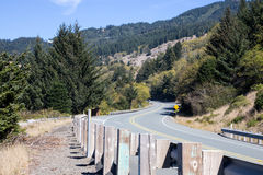 Highway 101 in South Oregon stock photography
